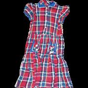 Plaid Girls Dress 1950's