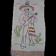 Spanish Man Embroidered Towel