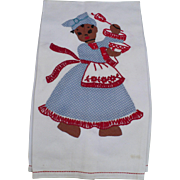 Black Chef Applique Towel