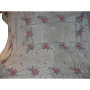 Embroidered Linen Table Cloth