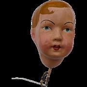 Boy Doll Head Papier Mache