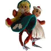 Ice Skating Pipe cleaner Couple
