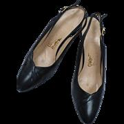 Ferragamo 1980's Navy Heels 8 1/2B