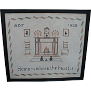 Home Framed Sampler 1929