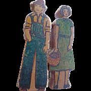 Folk Art Man & Woman Figures