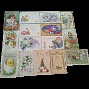 Fifteen Antique Easter Postcards
