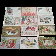 Twenty Seven Antique Christmas Postcards