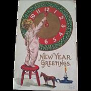 Twelve Antique New Years Postcards