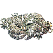 Marcel Boucher Clear Pave Double Clip Brooch circa 1939