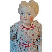 SOLD Lovely Blonde German China Head Doll - Red Tag Sale Item