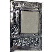 Art Nouveau large Silver Plate Photograph Frame, Germany C.1900.