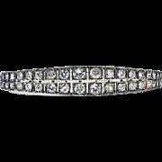 Antique 19th century Diamond Bangle, English C.1890.