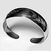 SALE Randahl hand made hammered Sterling Bangle, Chicago C.1930