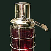 SOLD Asprey & Co Silver Plate Lantern Cocktail Shaker
