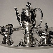 Evald Nielson Sterling Coffee Service Denmark C.1930