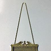 SALE Art Nouveau Gold Diamond  Pearl mesh link purse, C.1910.