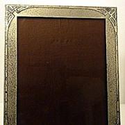 Art Deco Sterling overlay Photo Frame, Smith Metals Art Co , Buffalo C.1920