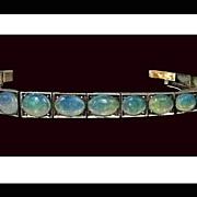 Antique Opal Gold Bracelet, C.1920.