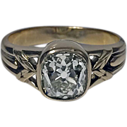 Antique Russian Diamond and Gold Ring, St Petersburg, 1908-17, HA.