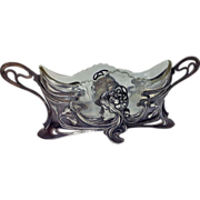 SOLD WMF Art Nouveau Jugendstil Silver plate on pewter centrepiece,Germany C.1900