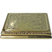 SALE Very fine large heavy Antique Gold Box, Austrian C.1900.