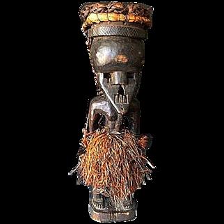 Salampasu, Rare Mukinka Figure with Mask - Shaba/Zaire,  early 20th Century