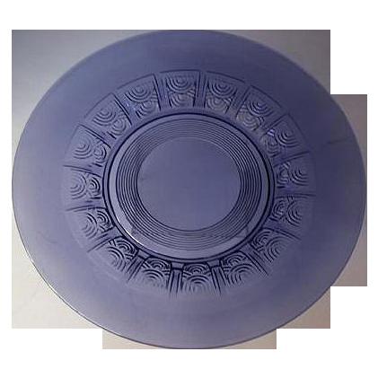 Art Deco  Val St Lambert Plate - Rare Amethyst Color