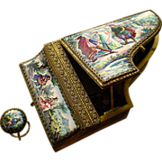Enameled Music Box in the Form of a Piano/Harpsichord - Austria