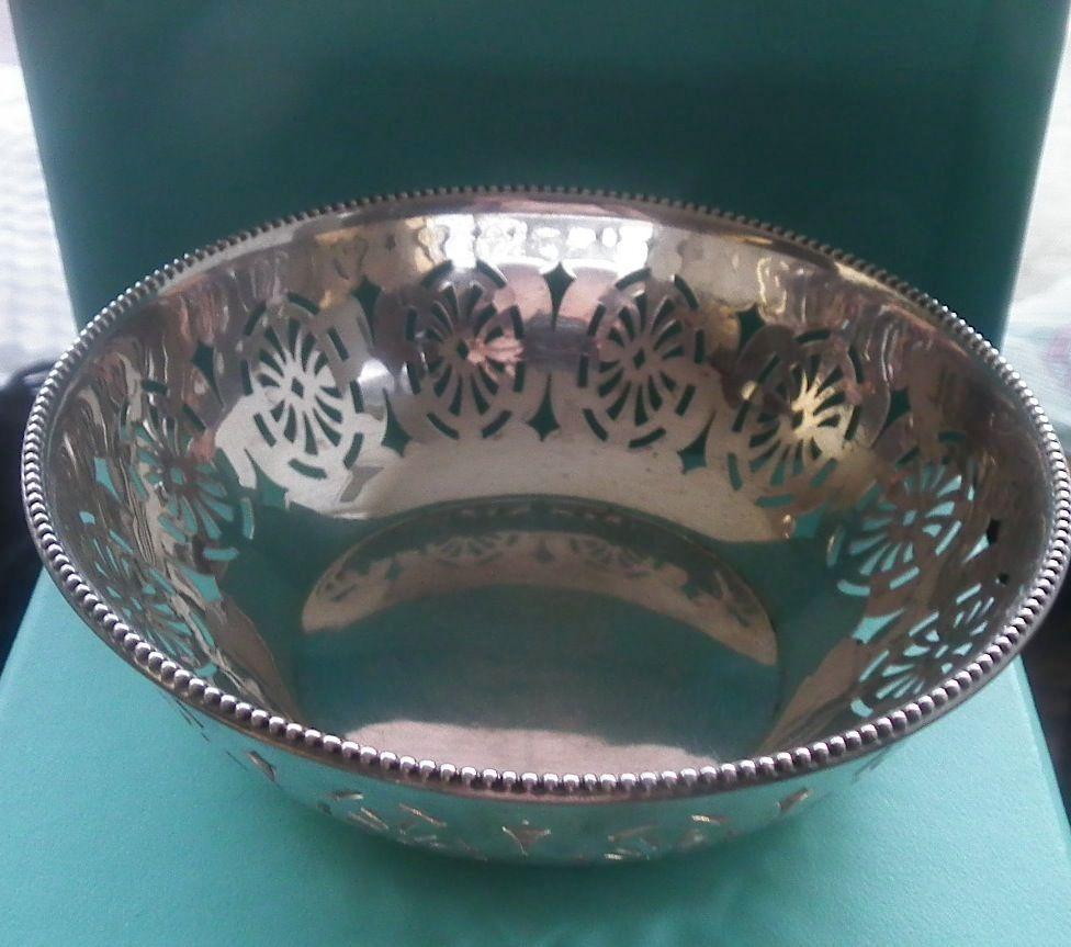 Pretty Sterling Silver Sweet Meat Bowl, Circa 1922