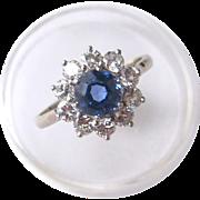 Fine 2.5 carat Tanzanite, Diamond Cluster Ring - Platinum