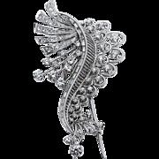 Impressive Diamond Brooch - Platinum