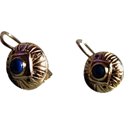 Petite 10K Gold Earrings - Antique
