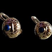 Petite 10K Gold Earrings - Antique