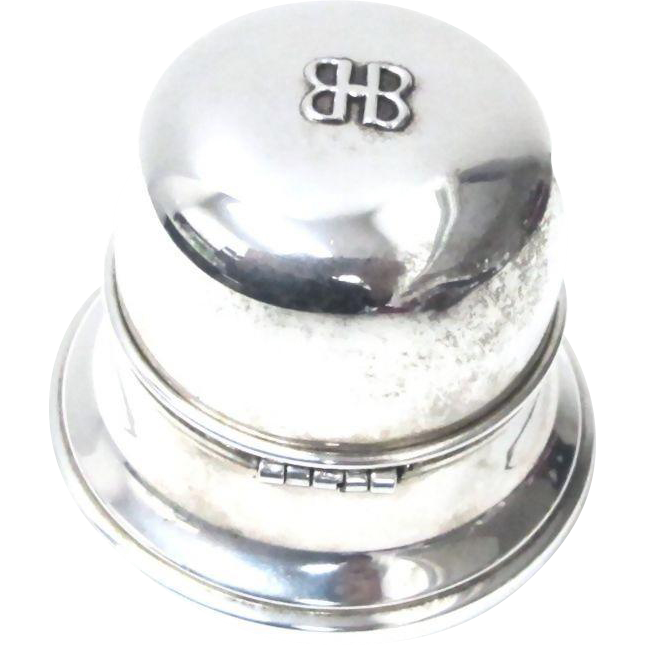 sterling silver ring box birks mid 20th century from