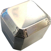 SOLD Rare Art Deco Sterling Ring Box - Ryrie Birks, Circa 1920's