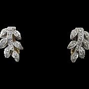 18 Ct Diamond Earrings - Art Deco