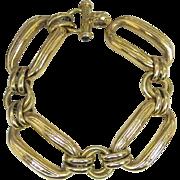 18K Chunky Gold Link Bracelet - Vintage