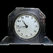 SOLD Art Deco Sterling Silver Desk Clock - England