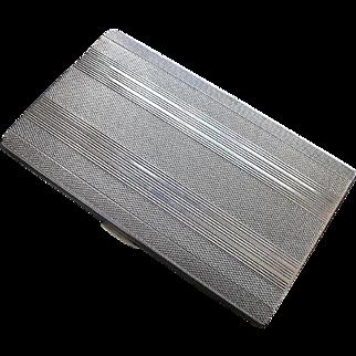 Pforzheim 835 Silver Cigarette/Card Case - Art Deco