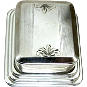 SALE PENDING Art Deco Sterling Ring Box - Circa 1920's