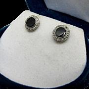 BIRKS Art Deco Diminutive Platinum and 14K Rose Cut Diamond Earrings - Boxed