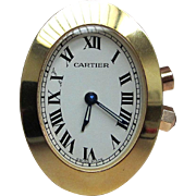 CARTIER Miniature Travel Clock - Circa 1970