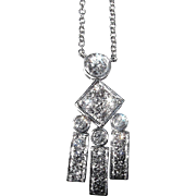 TIFFANY Diamond Pendant on Chain - Platinum