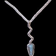 Larimar Arrow Pendant Sterling Silver Necklace