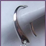 Tanzanite Briolette Swarovski Crystal Silver Earrings