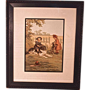 """""""Getty Up"""" Victorian Print Signed Helen J. Maguire"""