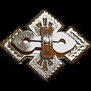 Victorian Cross Watch Fob/Pin