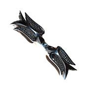 UNUSUAL & RARE Bakelite Black Birds Bar/Scarf Pin