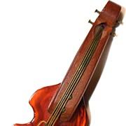 Violin/Banjo Pin/Brooch - Root Beer Bakelite