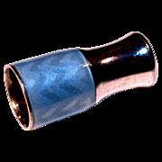 Blue Art Deco Guilloche Sterling Cheroot/Cigarette Holder Smoking Accessory